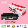 AColor factory supplies black laser compatible toner cartridge 05X CE505X