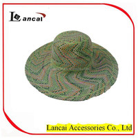new fashion wholesale ladies colourful handweave straw floppy hat