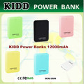 Wholesale Promotional Dual USB Output Fancy Design Portable 12000mah Power Bank