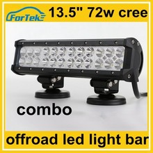 13.5 inch cree 72w combo offroad light led bar dc 12-24v from China