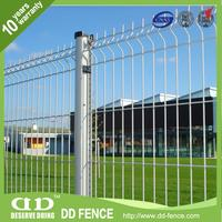 curuy welded wire mesh fence / v shape pvc welded mesh fencing / powder coating weld wire fencing