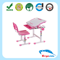 Ergonomic Metal and Plastic Kids Healthy Kid Study Table and Chair Sets