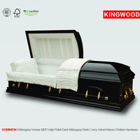 DOMINION funeral coffin light cheap wood coffin