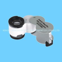 45X 22mm led Jewelers loupe with scale/jewellery magnifier/led light with dental loupe