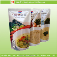 Retort pouch for sauce and liquid food/soup plastic packaging bag