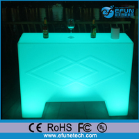 new fashion design rechargeable glowing bar furniture,restaurant illuminated light up hotel bar counter