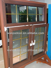 2014 hot sale PVC double hinged windows