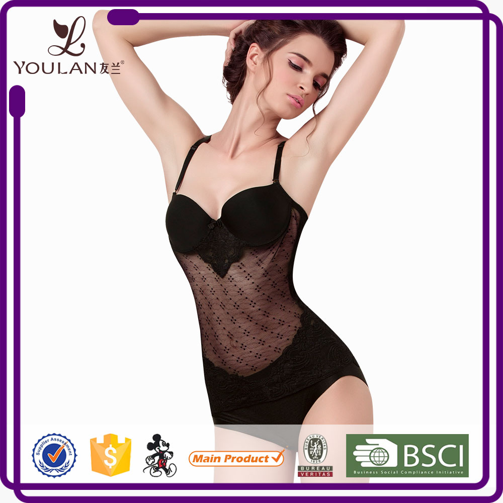 Wholesale Undergarments Ladies Black Transparent Shaper Sexy Lingerie
