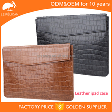 Wholesale laptop sleeve croc genuine leather laptop case cover for Ipad sleeve 14SM-3449F