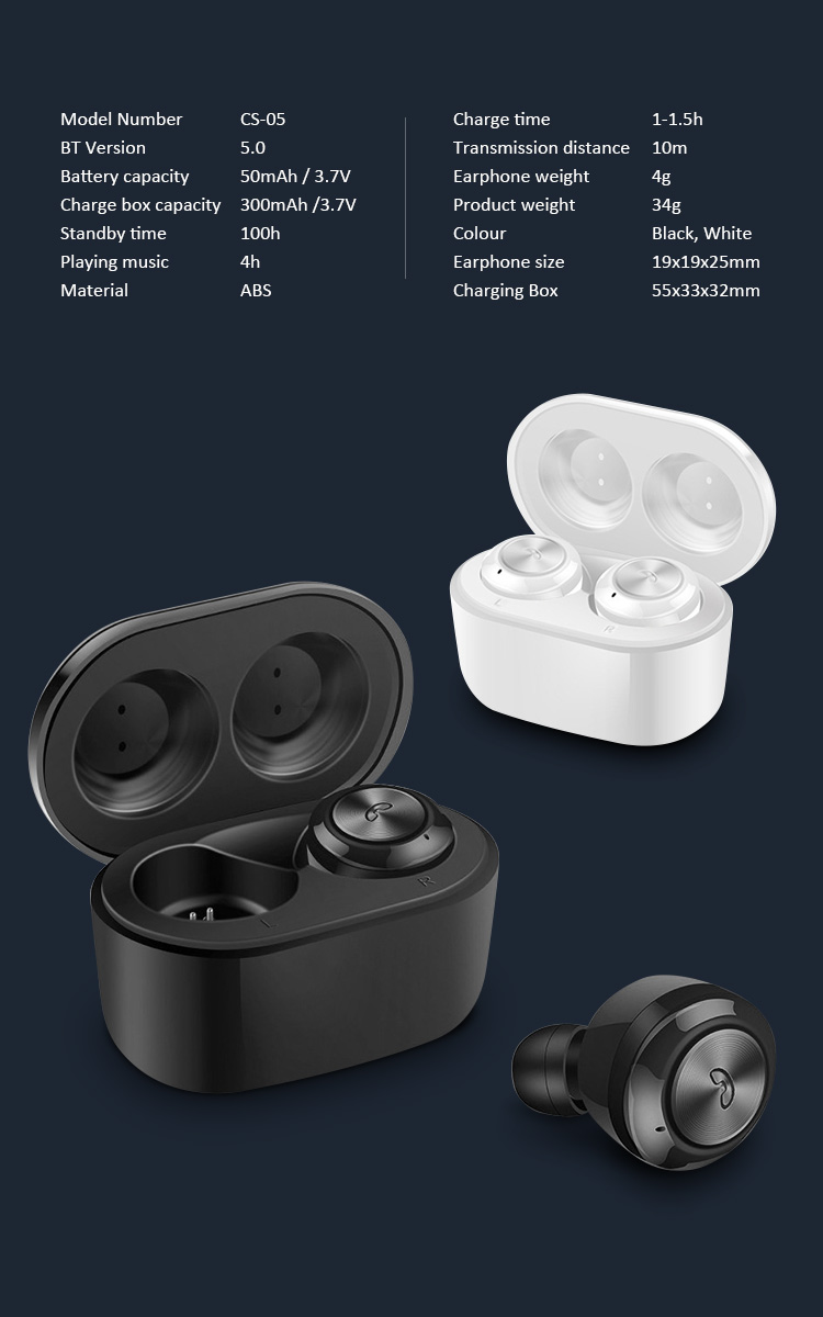 SOSLPAI factory original mobile phone wireless earbuds earphone portable tws wireless handsfree earphone
