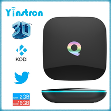 cheapest price Q box Amlogic S905 tv box wifi kodi 2GB 16GB best android smart tv box