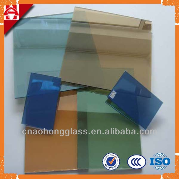 Aohong's golden green pinkl blue reflective coated glass