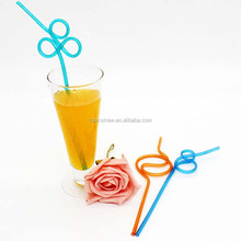 decorative twisted thick plastic drinking straw