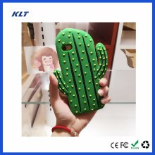 KLT OEM Korea Cute 3D Cartoon Cacti Phone Case Animals Soft Silicone Rubber Case for iPhone 7 7plus 6 6s 6plus 5 5se Back Cover