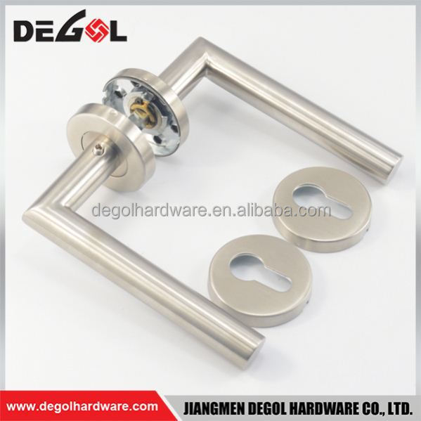 Wholesale stainless steel new model solid lever type room ab color apecs lever handle with rose