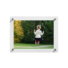 A3 Size 15X20-Inch Double Panel Clear Acrylic Wall Mounted Photo/Certificate Frame,Floating Frameless Certificate Photo Frame