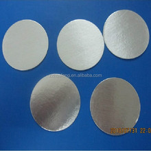 Silver aluminium foil seals for medicine pills bottle