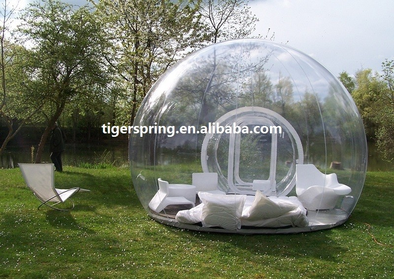 high quality low price transparent inflatable bubble tent