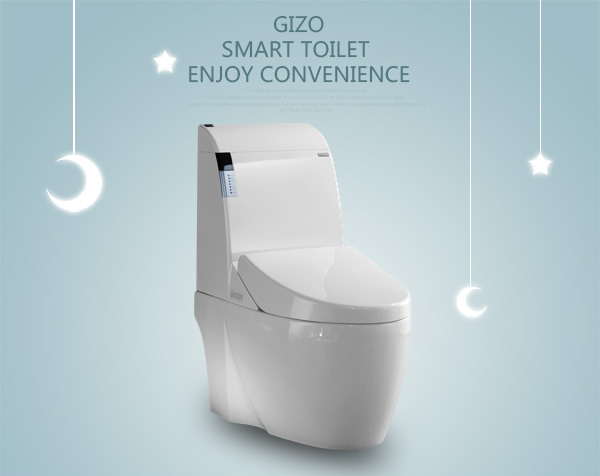 Flush automatic toilet intelligent smart toilet with white ceramic with floor mounting