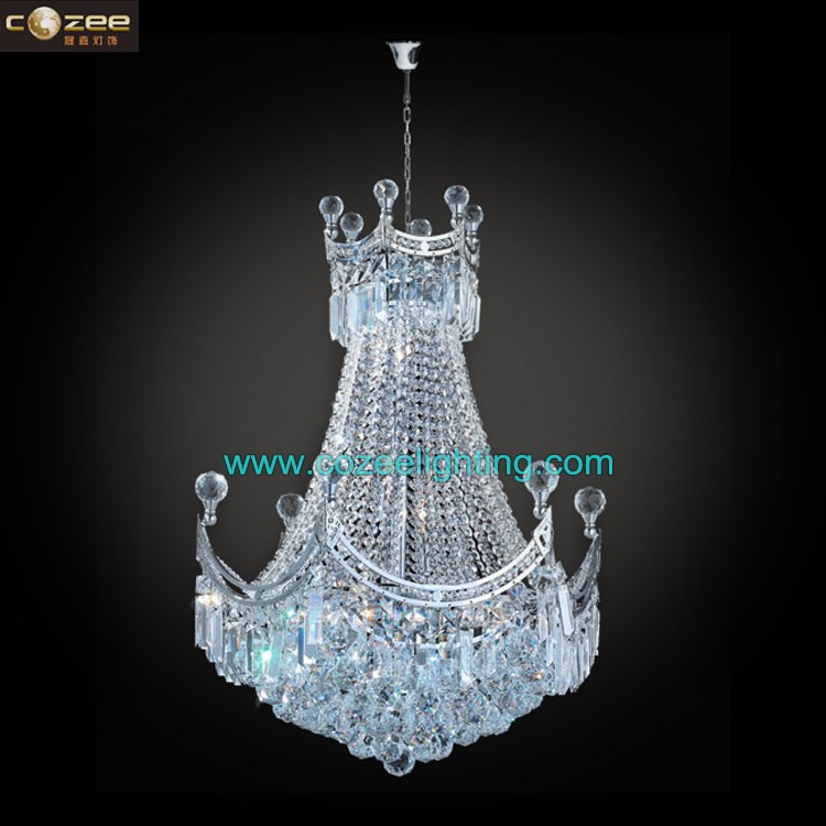 K9 Crystal Drop Chandeliers Lighting Pendant Hanging Lamps Light Fixtrure Gold/ Chrome CZ6501C/500