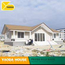 pre fab villa style small house luxury steel structure sustainable prefabricated houses low cost