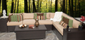 2017 Trade Assurance Most Popular outdoor modern pe rattan corner sofa set for garden