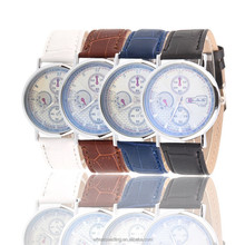 High - end three - pin blue glass living waterproof watch men and women clock couple table