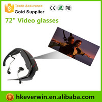 "72"" eyewear virtual screen wireless video glasses for ps3 with AV input"