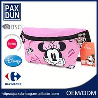 Cute cartoon kids waist pack Zippered Messenger Waist Belly Bag Crossbody bag Cell Phone bag