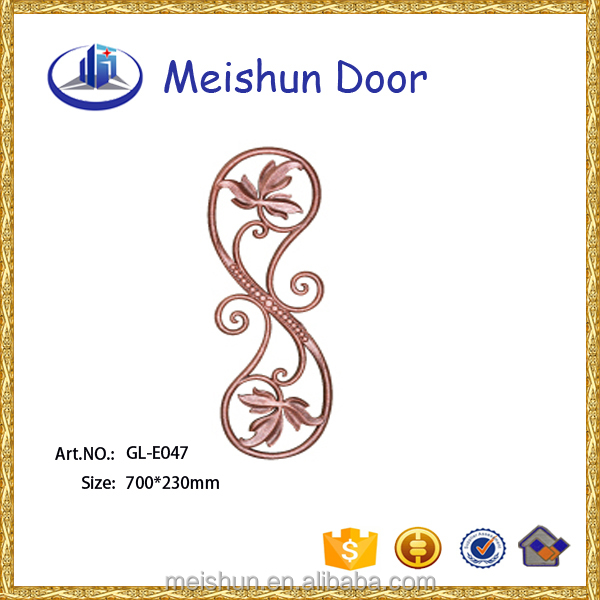 wrought aluminum ornaments accessories for staircase railings fence gate