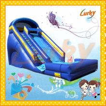 Cheap bouncy water slide/jumping water slide/large inflatable water slide for selling