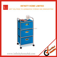 Beistelltisch Mobile Storage Rolling Cart with 3 drawers and locked Wheels