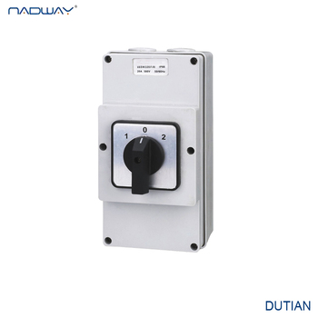 IP66 Weather protected changeover switch