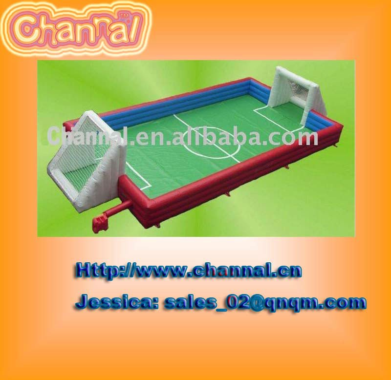 inflatable soap soccer field/ football pitch