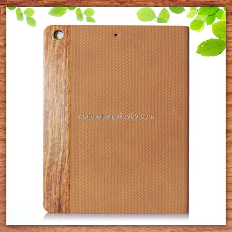 wooden leather case for ipad air for ipad 5 case wood new hot selling product