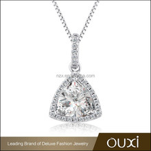 OUXI 2016 latest design wholesale price american light weight AAA cz diamond necklace set 11186-1