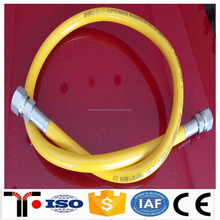 Yellow stainless steel corrugated flexible natural gas hose pipe factory