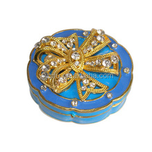 Fashion home decoration item wholesale yiwu/bejeweled trinket box/unique trinket box china