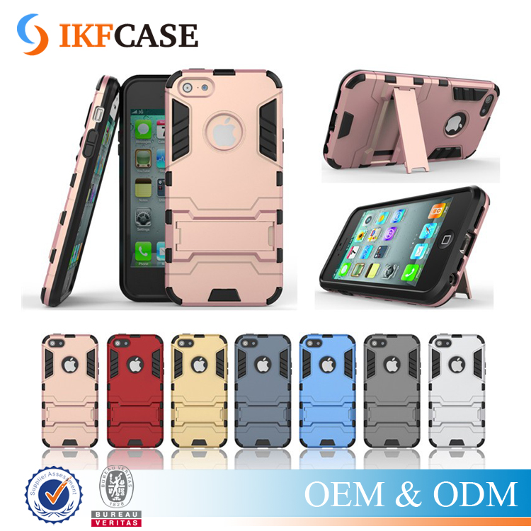 2 in 1 Urban dual shockproof kickstand layer shell case for iphone 5c