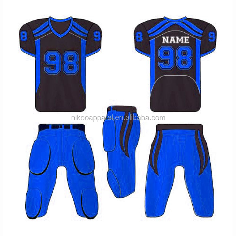 2017 Fashion customized sublimation American football jerseys custom american football uniforms dry fit football