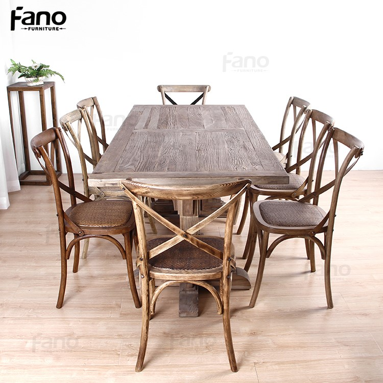 Special design rustic old wood dining table high quality for Quality wood dining tables
