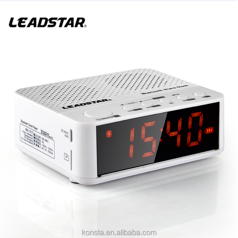 alarm clock with bluetooth speaker micro digit product Wireless Bluetooth Speakers FM with Portable Audio Player Support TF Card