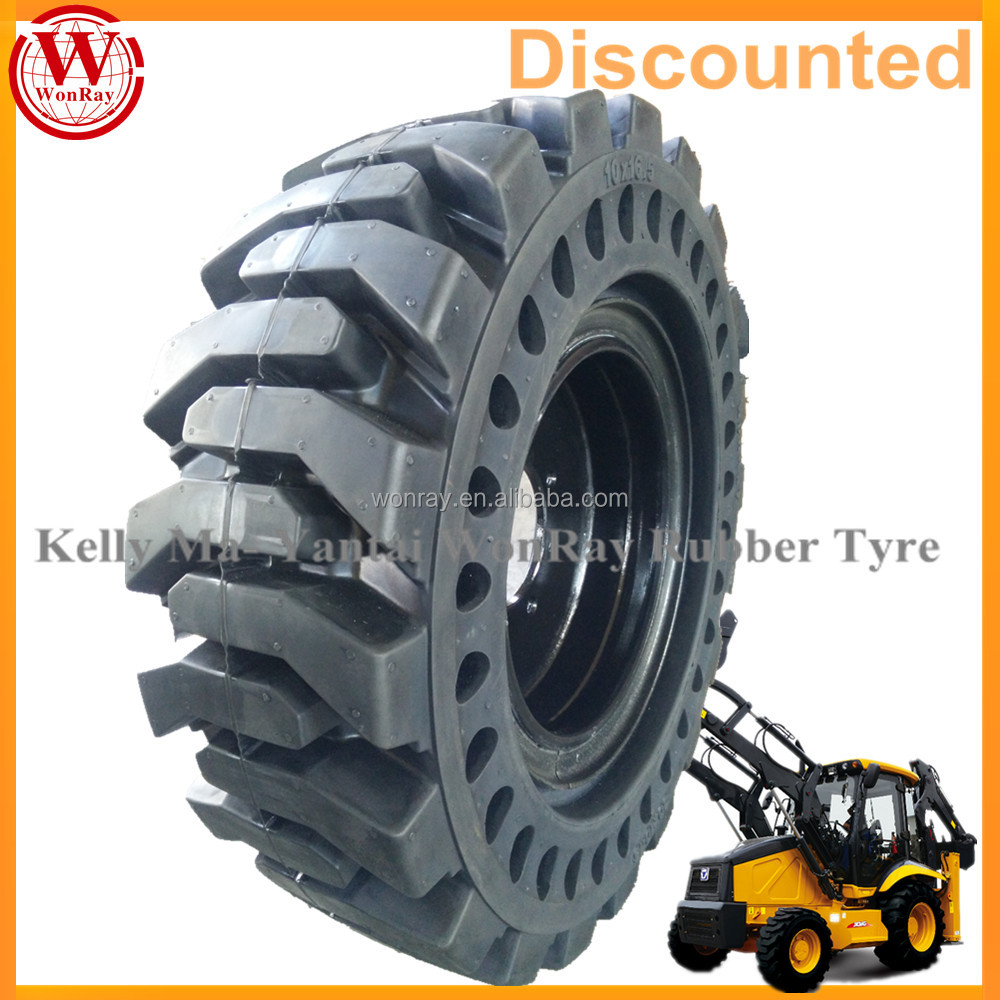 cushion super sidewall skid steer tires 12x16.5 solid