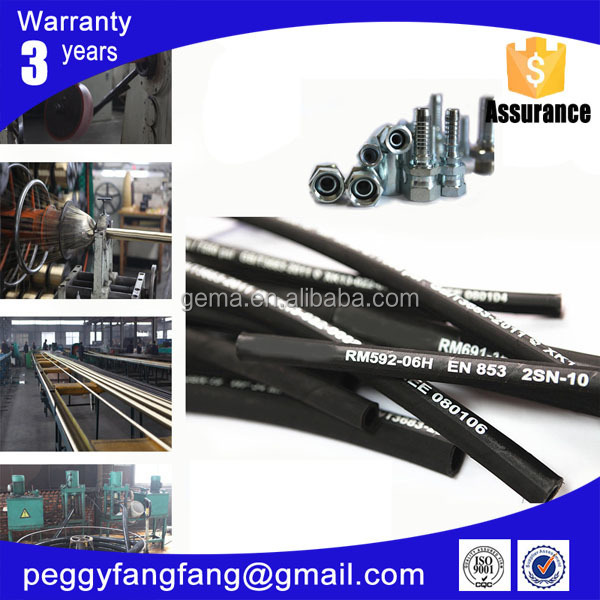 SAE100 R16 Industrial Hydraulic Hose/manguera hidraulica Manufacturer From China