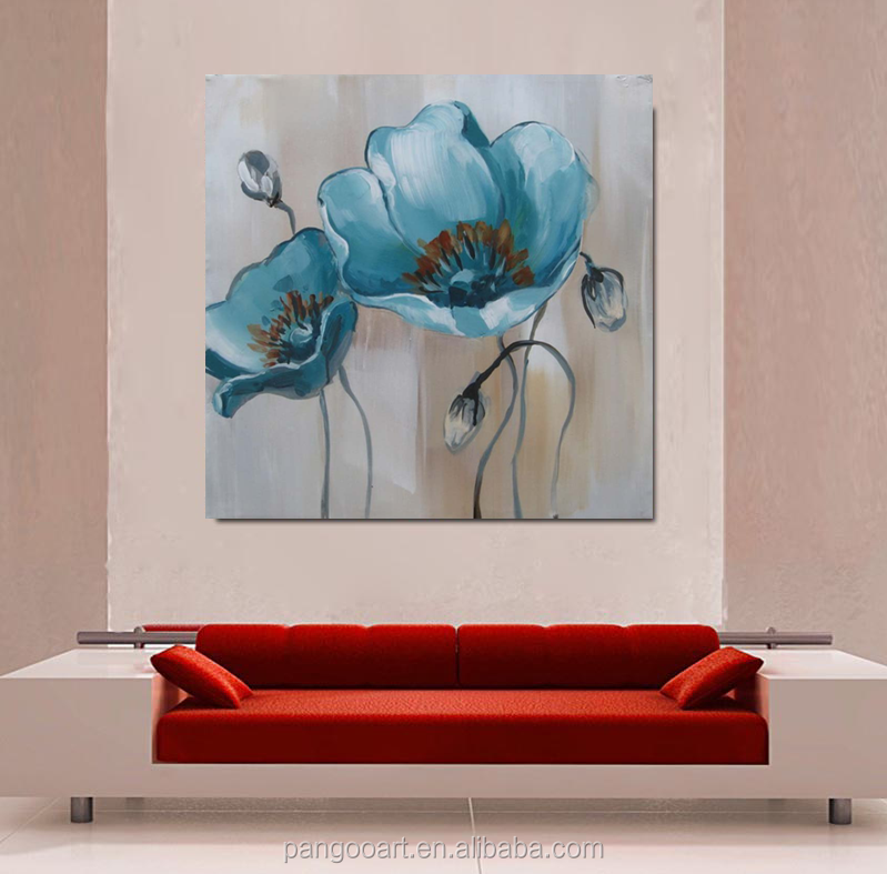 Modern flower High Quality beautiful flower oil painting On Canvas For House Decor Oil Painting