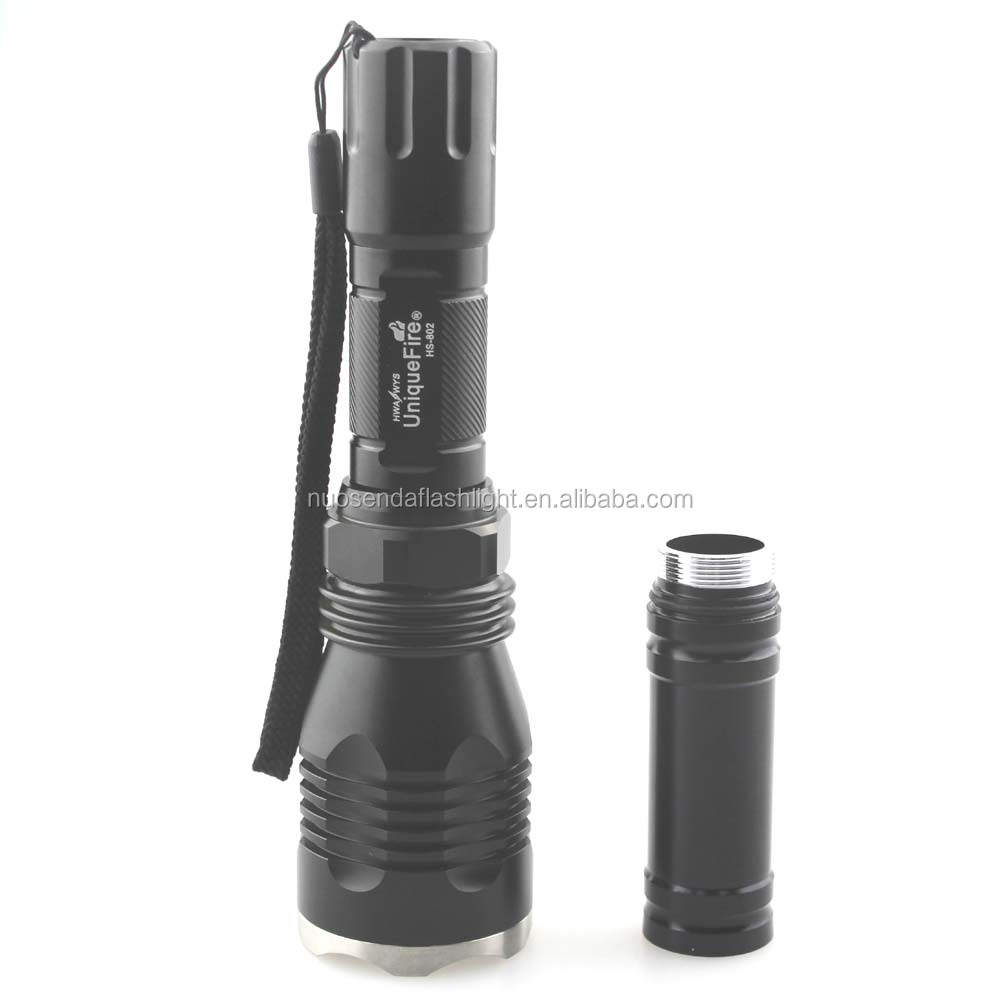 UniqueFire HS-802 1xCREE XM-L2 <strong>U2</strong> 1400lm 1-Mode LED Flashlight + Extension Tubbe (1x18650/2x18650)