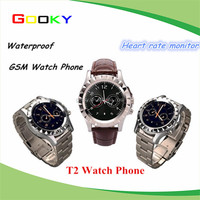 Bluetooth smart watch 2015 with camera, 2G GSM Heart rate Smart watch phone, bulk wholesale T2 U8 U9 DZ09 phone watch