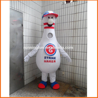 Bowling mascot costume for adults,used mascot costumes for sale
