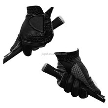 Custom made black sheep skin leather golf glove