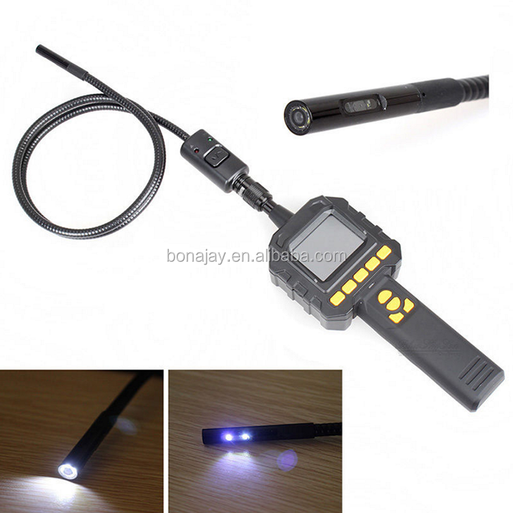 "GL9018 2.3"" Color Screen Endoscope 8mm Tube Inspection Camera DVR Recording w/Carrying Case Flexible Extended Tube"